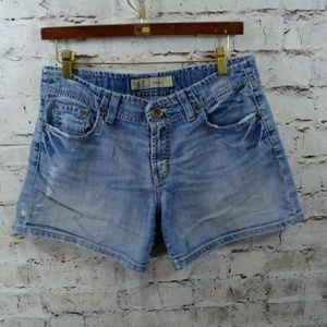 BKE Denim The Buckle Wendi Distressed Denim Shorts
